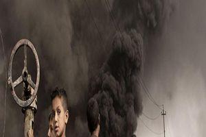 'Thảm họa' IS: Những đứa trẻ khóc lóc chạy khỏi nhà, mất chân tay do bom mìn và ngủ trong khói súng