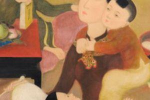 Bức tranh 'Gia đình' của Lê Phổ bán với giá gần 750.000 USD