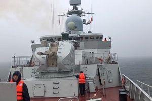 Tàu hộ vệ 015-Trần Hưng Đạo sẵn sàng ứng phó với bão Trà Mi