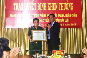 BĐBP Phú Yên được khen thưởng thành tích trong đấu tranh ngăn chặn khai thác thủy sản trái phép