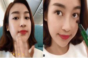 Hoa hậu Đỗ Mỹ Linh gây tranh cãi khi thoa serum dưỡng da mà chưa tẩy trang thật sạch