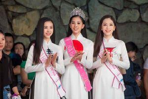 Top 3 Hoa hậu Việt Nam 2018 đẹp xuất sắc trong trang phục áo dài tại Lễ hội Mặt trời mọc