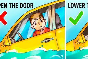 Kỹ năng sống sót nhất định phải biết khi bị mắc kẹt trong ô tô chìm dưới nước