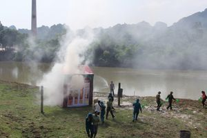 Hội Chữ thập đỏ TP Hà Nội diễn tập ứng phó với thiên tai