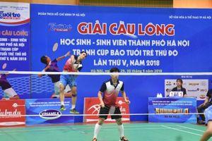 Bế mạc giải Cầu lông HSSV TP Hà Nội tranh Cúp báo Tuổi trẻ Thủ đô