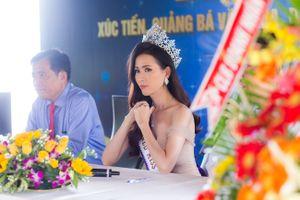 Phan Thị Mơ rạng rỡ về quê hương Tiền Giang quảng bá du lịch