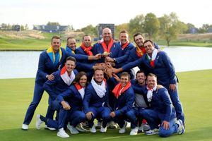 Thắng áp đảo tuyển Mỹ, tuyển châu Âu vô địch Ryder Cup 2018