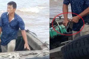 Điều tra người đàn ông dùng súng thị uy trên sông Hậu
