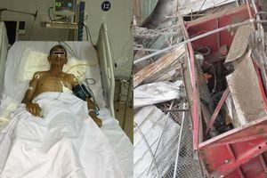 Thang máy xây dựng rơi tự do, người đàn ông dập phổi, gẫy nhiều xương sườn