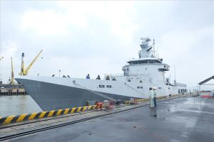 Tàu hải quân Brunei cập cảng Tiên Sa Đà Nẵng