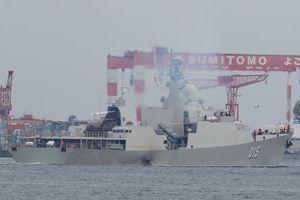 Chiến hạm Trần Hưng Đạo cơ động tránh bão Trà Mi
