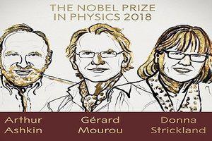 Nobel Vật lý 2018 được trao cho phát minh trong lĩnh vực vật lý laser