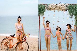 Ở tuổi 42, Thúy Nga diện bikini khoe dáng sexy cùng con gái nô đùa trên bãi biển