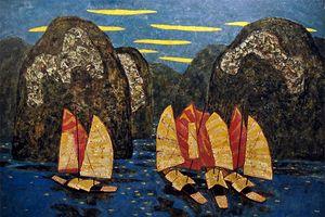 Triển lãm 50 bức tranh sơn ta sắc màu lam
