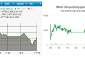 Cổ phiếu lớn phân hóa mạnh, hai sàn tăng nhẹ