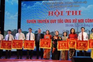 Hà Nội : Chung khảo Hội thi Tuyên truyền Quy tắc ứng xử nơi công cộng