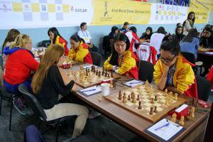 Cờ vua nữ Việt Nam chia điểm với Cuba ở vòng đấu thứ 8 Olympiad