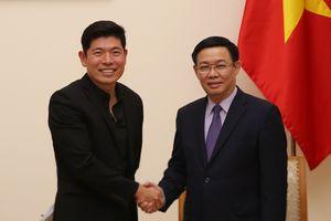 Phó Thủ tướng Vương Đình Huệ tiếp Giám đốc điều hành Grab