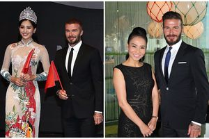 Những mỹ nhân Việt từng có dịp sánh vai cùng cựu danh thủ David Beckham