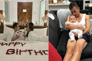 Fan xót xa vì Thúy Diễm bắt Lương Thế Thành đón sinh nhật ngập ngụa trong bỉm sữa
