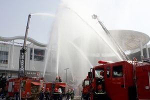 2.500 người tham gia diễn tập phòng cháy chữa cháy tại AEONMALL Long Biên