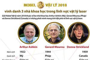 Chân dung 3 nhà khoa học giành giải Nobel Vật lý 2018