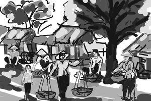 Đi chợ mùa thu