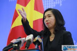 Việt Nam lên tiếng về hoạt động của tàu chiến Trung Quốc và Hoa Kỳ trên Biển Đông
