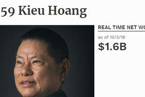 Vì sao tỷ phú gốc Việt Hoàng Kiều 'rơi' khỏi top 400 người giàu nhất nước Mỹ?
