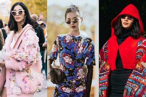 Hoàng Thùy bỗng xinh đẹp với đồ rực rỡ, Khánh Linh môi thâm diện đầm 20 triệu 'phá đảo' tuần lễ thời trang Paris