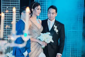 Lan Khuê xinh đẹp, rạng rỡ trong lễ cưới với ông xã doanh nhân