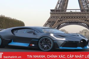 Siêu xe thể thao Bugatti Divo giá 5,7 triệu USD xuất hiện tại triển lãm ôtô Paris 2018