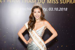 Minh Tú đội vương miện sẵn sàng thi Hoa hậu Siêu quốc gia 2018