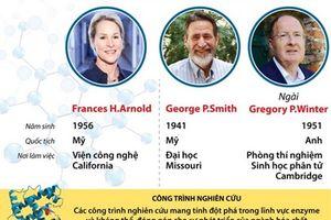 Chân dung 3 nhà khoa học giành giải Nobel Hóa học 2018