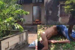 Rượu say, nam thanh niên châm lửa đốt nhà rồi ra góc vườn nằm ngủ