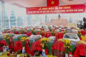 Quảng Trị: Tổ chức lễ truy điệu và an táng 36 hài cốt liệt sỹ