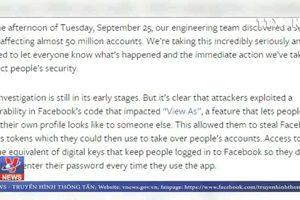 Facebook đối mặt với án phạt hàng tỷ đô la Mỹ