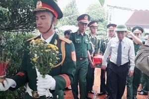 Truy điệu và an táng 36 hài cốt liệt sĩ tìm thấy ở khu vực Dốc Miếu