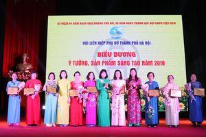 Tôn vinh phụ nữ Thủ đô tài năng, sáng tạo năm 2018
