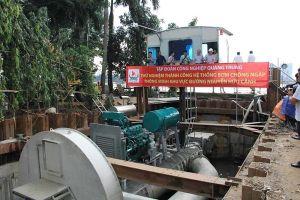 'Siêu máy bơm' vận hành trở lại chống ngập cho đường Nguyễn Hữu Cảnh