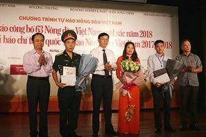 11 tác phẩm đoạt Giải báo chí toàn quốc 'Tự hào Nông dân Việt Nam 2017-2018'