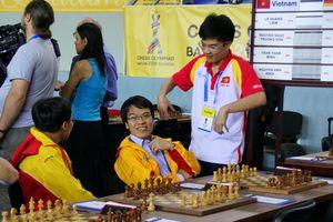 Cờ vua Việt Nam cầm chân đối thủ mạnh hơn ở Olympiad