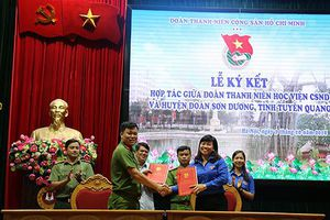Đoàn thanh niên Học viện CSND ký kết nghĩa với Huyện đoàn Sơn Dương