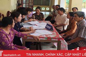 Hơn 600 người cao tuổi Thạch Hà được khám, tư vấn sức khỏe