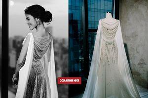 Bật mí chi tiết đặc biệt trên váy cưới 500 triệu của siêu mẫu Lan Khuê