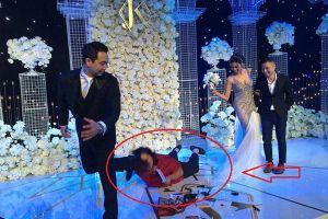 Cô gái ngã 'sấp mặt' trong đám cưới Lan Khuê là ai?
