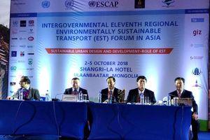 Bộ GTVT tham dự Diễn đàn Liên Chính phủ về Giao thông vận tải bền vững môi trường tại Mông Cổ