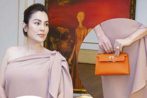 Hoa hậu Phương Lê xách túi 180 triệu đồng đi sự kiện