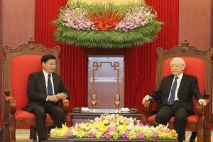 Tổng bí thư, Thủ tướng tiếp Thủ tướng Lào Thongloun Sisoulith