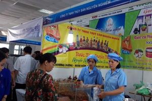 100 gian hàng tham gia Hội chợ các sản phẩm thủy sản tại Hà Nội